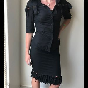 Frankie morello skirt and blouse